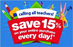 Teacher discounts at different stores!