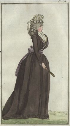 chemise a plis (chemise with pleats) - November 1792 Journal des Luxus und der Moden