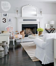 White is almost always right for a classic #fireplace.