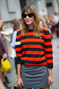 Alexa's awesome stripes. London. #AlexaChung
