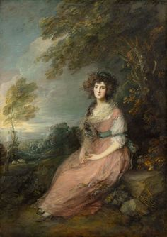 Mrs. Richard Brinsley Sheridan, 1785-1787 by Thomas Gainsborough  Andrew W. Mellon Collection