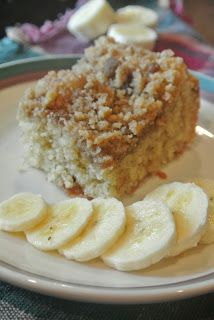 Banana Crumb Cake...perfect use for those brown bananas sitting on your counter.