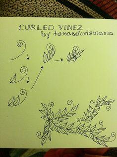 Curled vinez tangle