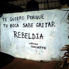 Te quiero porque tu voz sabe gritar rebeldía - M. Benedetti