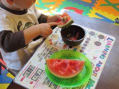 Montessori Practical Life {Melon Balling} from Carrots Are Orange