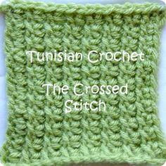 Tunisian crochet crossed stitch tutorial