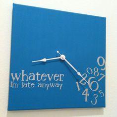 decor, red, gift ideas, etsi, funni, slate blue, hous, whatev, clocks