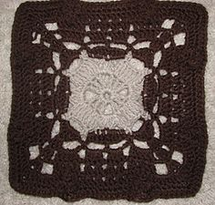 "Day 21: 12"" Block of the Day - August Aran Square by Marlo D Cairns  Free Pattern: http://www.marloscrochetcorner.com/august%20aran%20square.html  #TheCrochetLounge #12inch #grannysquare Pick #crochet"