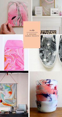 DIY | 8 Marbling Tutorials #diy #crafts
