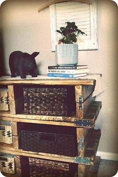 Pallet dresser/bookcase