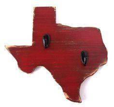 Texas - wood wall key hook (many colors)