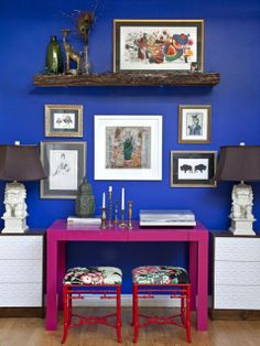 Loving this colour combination...bold and beautiful!