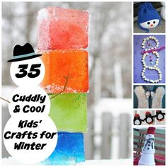 35 Cuddly and Cool Kids' Crafts for Winter- DIY accessories, fun winter decorations, and more!