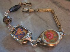 Recycled Watch Parts Bracelet by beingpavlina on Etsy, $44.00