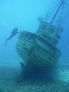 I would love this. It would scare me, but I'd love it.  wreck diving | Technical Wreck Diving