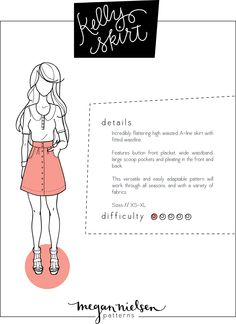 Megan Nielsen Kelly skirt sewing pattern // Now available as an instant download PDF!!!