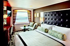 Such a spacious room aboard the Crystal Serenity