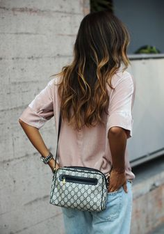 We're crushing on velvet lately! It gives you the look of luxury with the comfort of lounge wear. Do you have velvety love too? gucci bags, balayage, boyfriend jeans, fashion, hair colors, hair style, beauti, beach hair, highlights