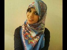square hijab tutorial, scarv