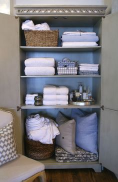 BEAUTY COMES FROM WITHIN – Want a pretty home? Focus on her insides. Now's the time to put away the winter throws and down comforters. Fold them up neatly, or store them in a basket to keep them in place. Rid yourself of the sheet sets and towels you no longer need, and store only the items that you use regularly.