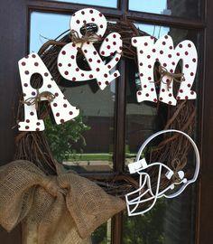 Texas A Aggie wreath
