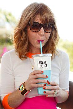 summer styles, pool parties, wavy hair, kate spade cups, wavi hair