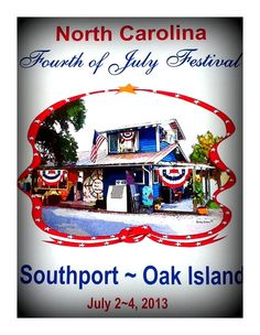The Official NC Fourth of July Festival Poster -- available at the Ricky Evans Gallery!