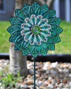 Repurposed Glass Garden Flower