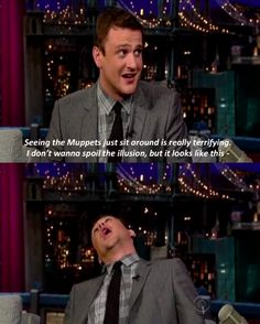 Jason Segel explains what the muppets look like off camera…