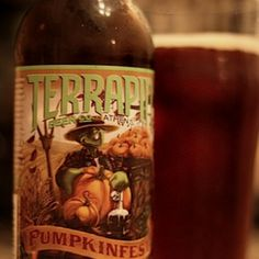 A pretty good pumpkin from Terrapin, a local, Athens, GA brewery.