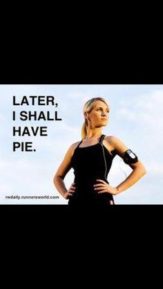I run so I can eat!!!