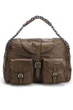 Balenciaga Chain Shoulder Bag In Green - Beyond the Rack
