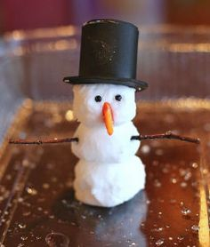 The Magical Melting Snowman uses an easy recipe to create the coolest sensory activity you'll see all winter!