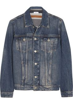 MIH JEANS Wool blend-lined denim jacket