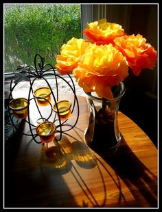 coffee filter flowers - DIY - perfect for halloween and fall!