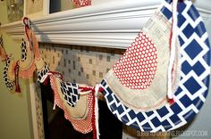 craft, tutorials, banner tutori, blue, juli bunt, buntings, bunt banner, 4th of july, banners