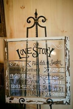 And tell the world how your love story unfolded. | 40 Awesome Signs You'll Want At Your Wedding