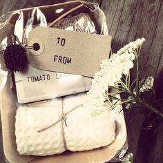 Gift for the gardener. Seed tray and #twine then after with soap and waffle face cloth. Perfect and easy www.heaveninearth.com.au