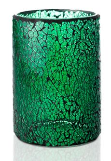 Crackle Colored Glass Shade, Green $30