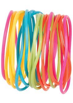 Neon Rubber Bracelets
