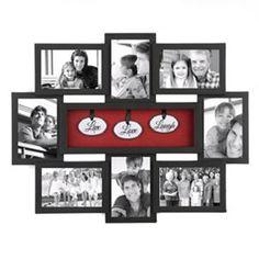 Live Love Laugh Shadowbox Black Collage Frame collag frame, black collag