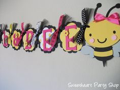 babe banner, shower ideal, angl, bumble bees, babi shower