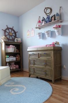 Girl nautical nursery. #nautical #girl #nursery #pinparty