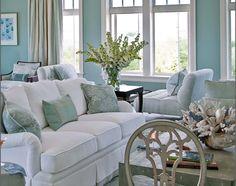 serene blue and white living room again