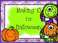 Make 10 with colorful Halloween math centers that include games, activities and worksheets! $