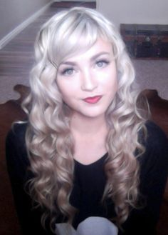 Cara 's NuMe Reverse wand curls!!