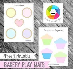 Free Printable - Bakery Play Mats!