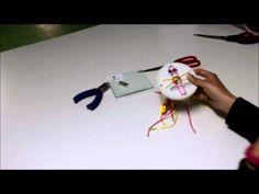 Disco Kumihimo.Pulsera plana con disco redondo - YouTube