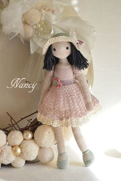 Collectible doll Elegant crochet doll child friendly ♥ by chepidolls
