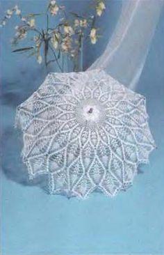 Crochet umbrella with diagram